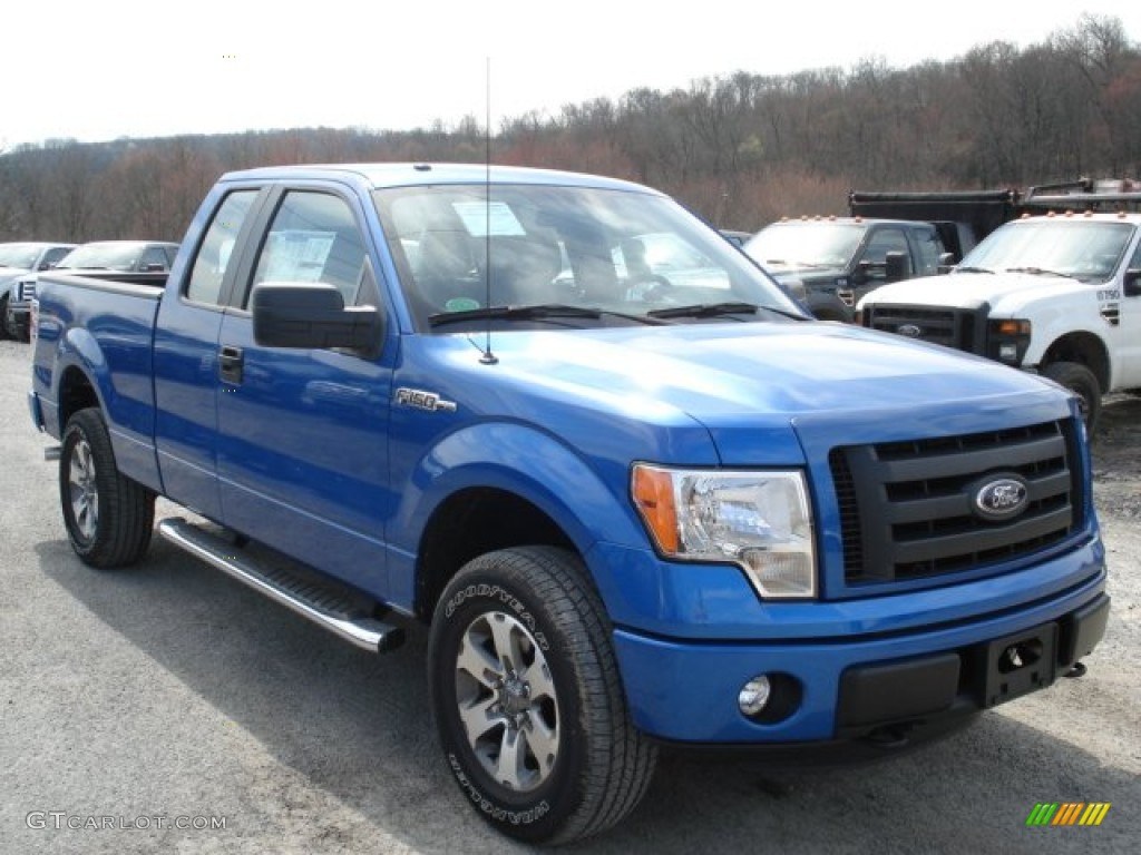 blue flame metallic 2012 ford f150 stx supercab 4x4 exterior photo 62795718. Black Bedroom Furniture Sets. Home Design Ideas