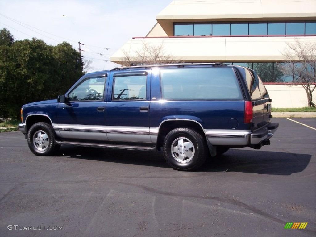 Indigo blue metallic 1993 chevrolet suburban k1500 4x4 exterior photo 62809891 gtcarlot com