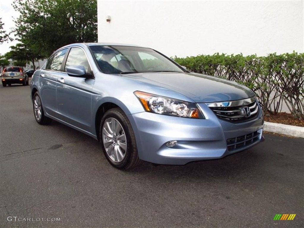 Celestial Blue Metallic 2012 Honda Accord Ex L V6 Sedan