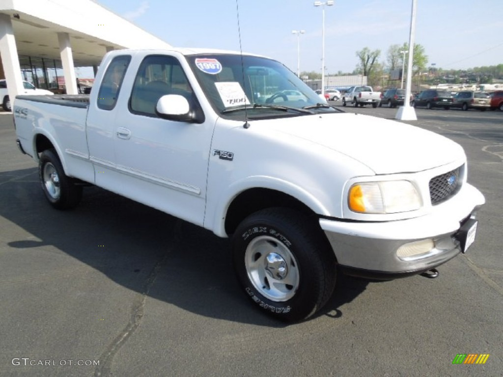 1997 oxford white ford f150 xlt extended cab 4x4 62757934. Black Bedroom Furniture Sets. Home Design Ideas
