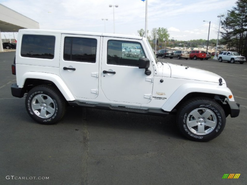 bright white 2012 jeep wrangler unlimited sahara 4x4 exterior photo 62836856. Black Bedroom Furniture Sets. Home Design Ideas