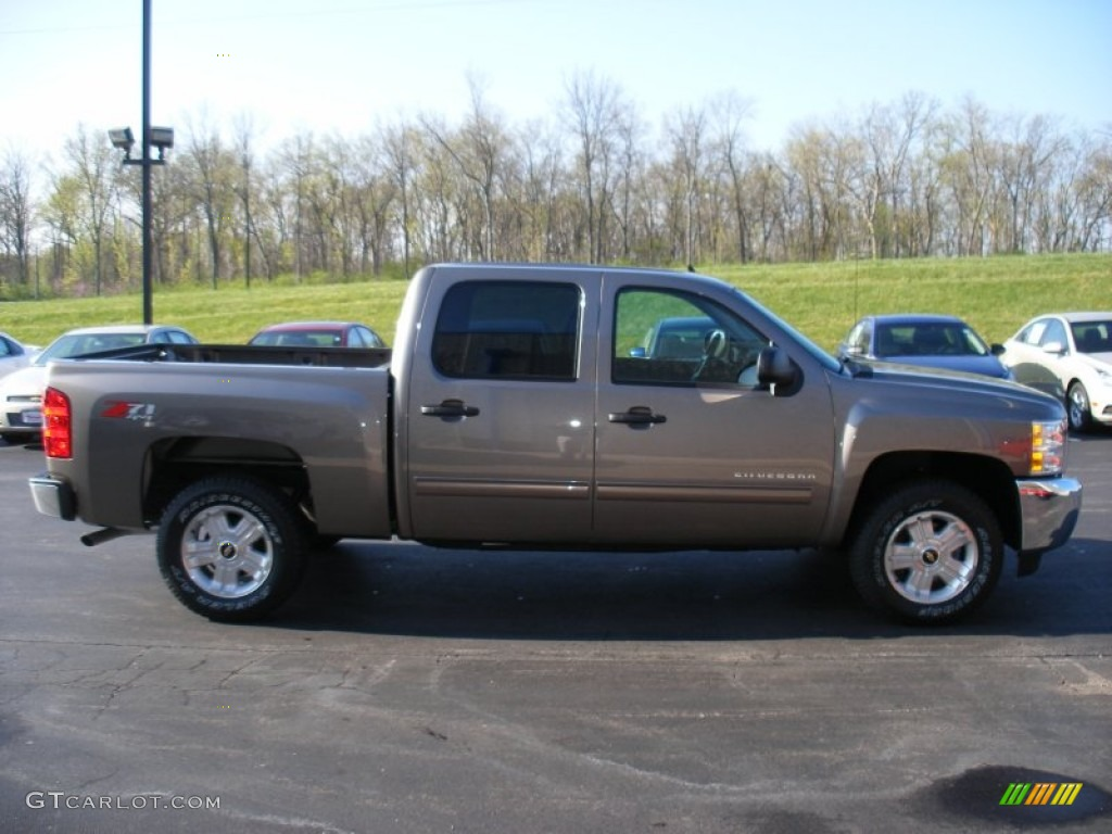 2012 Silverado 1500 LT Crew Cab 4x4 - Mocha Steel Metallic / Ebony photo #1