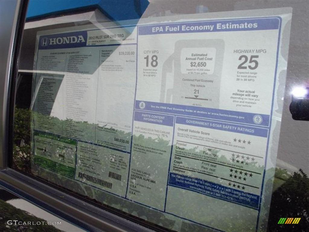 2012 Honda Pilot Touring Window Sticker Photo 62844964 Gtcarlot Com