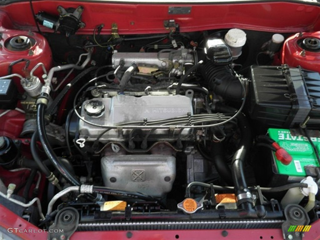 2000 Mitsubishi Mirage DE Coupe 1.5 Liter SOHC 12-Valve 4 Cylinder Engine Photo #62849824