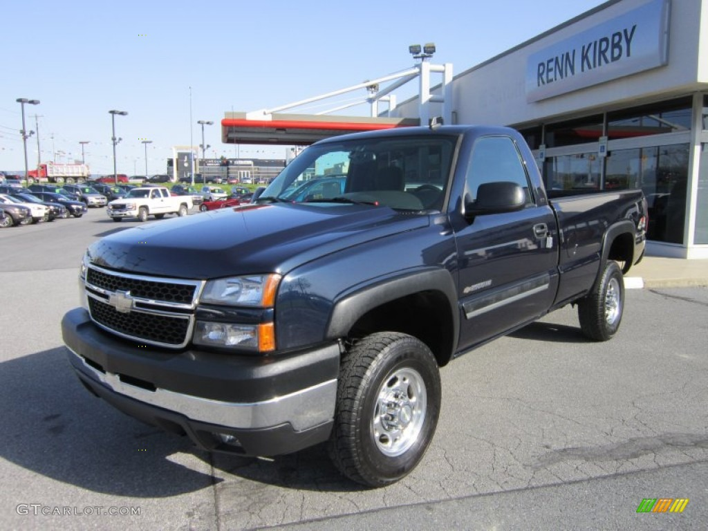 2006 dark blue metallic chevrolet silverado 2500hd lt regular cab 4x4 62854021 gtcarlot com