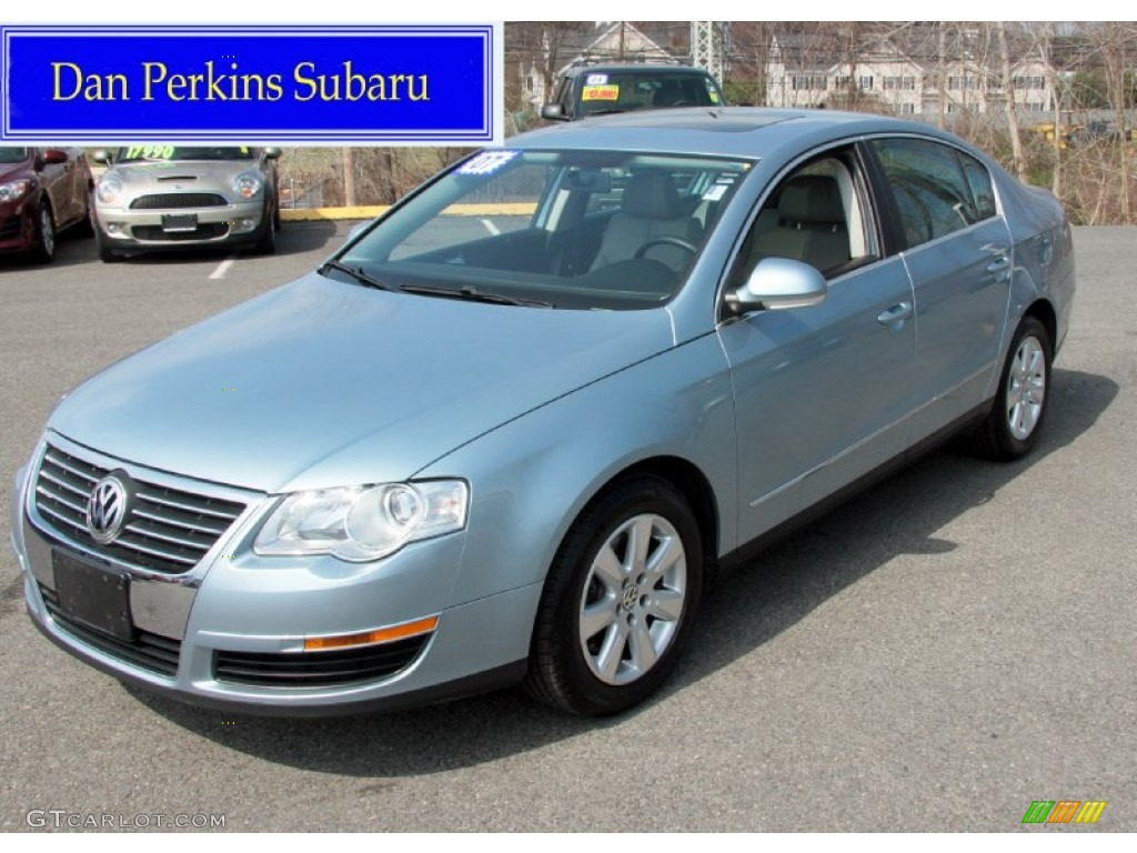 2007 arctic blue silver metallic volkswagen passat 2 0t sedan 62853867 car. Black Bedroom Furniture Sets. Home Design Ideas