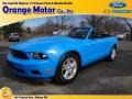 2011 Grabber Blue Ford Mustang V6 Convertible  photo #1