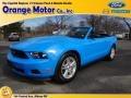 2011 Grabber Blue Ford Mustang V6 Convertible  photo #1