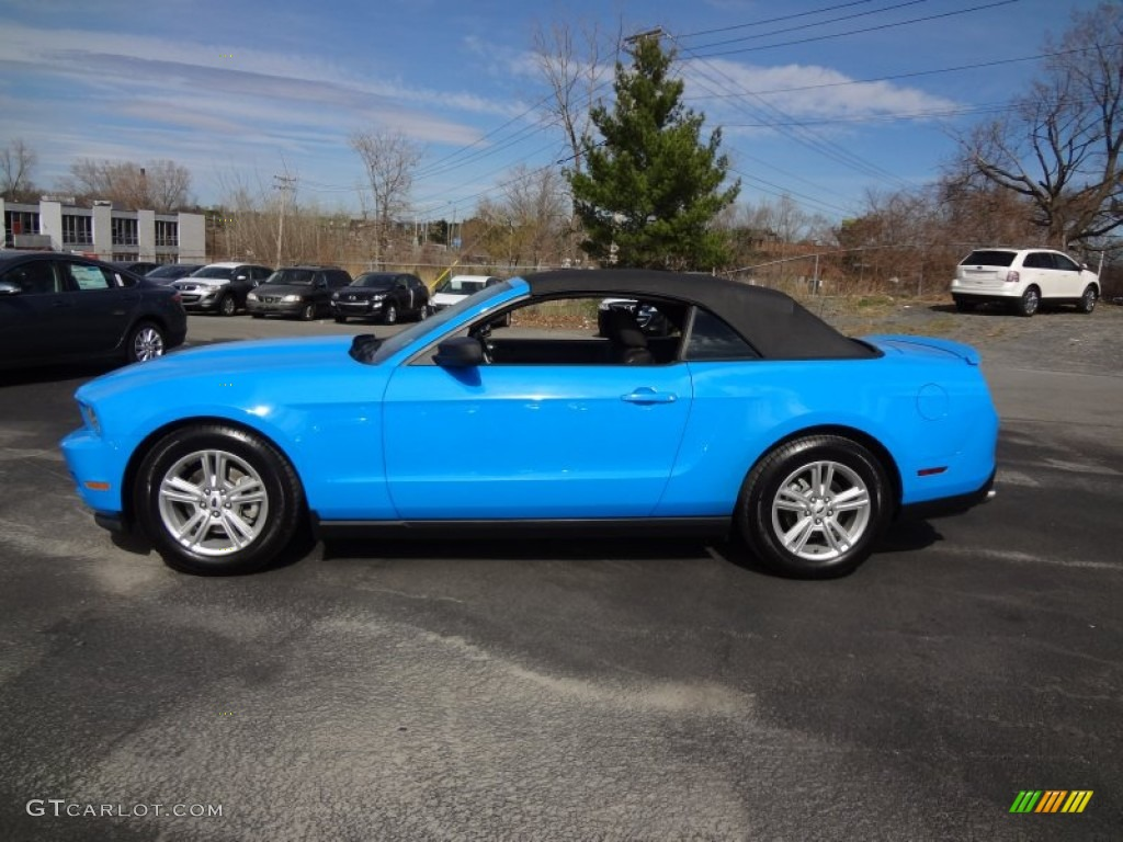 Grabber Blue 2011 Ford Mustang V6 Convertible Exterior