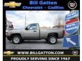 2012 Graystone Metallic Chevrolet Silverado 1500 Work Truck Regular Cab  photo #1