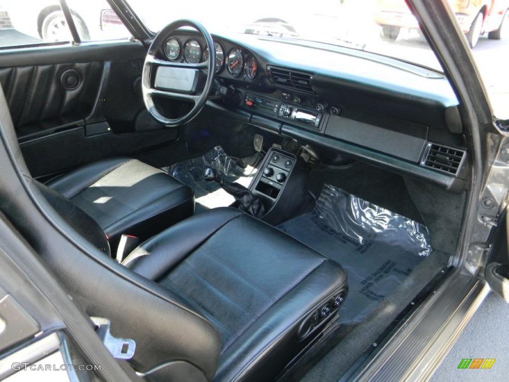 Black Interior 1989 Porsche 911 Carrera Turbo Photo