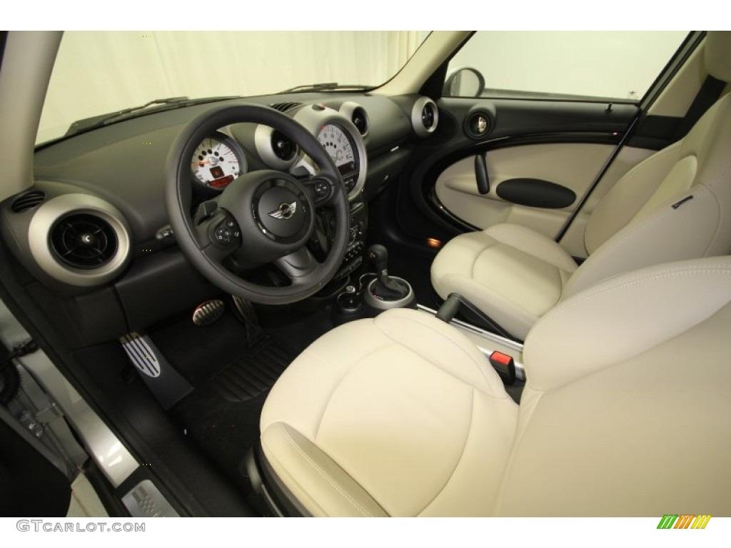 gravity polar beige leather interior 2012 mini cooper s. Black Bedroom Furniture Sets. Home Design Ideas