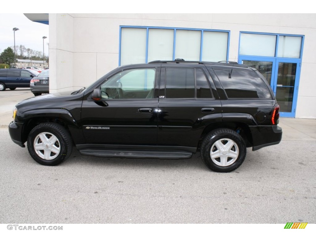 Onyx black 2002 chevrolet trailblazer ltz 4x4 exterior photo 62912268 gtcarlot com