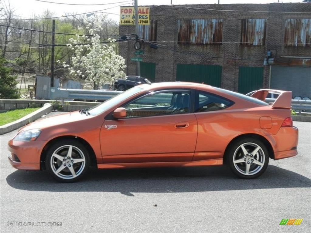 Blaze Orange Metallic 2005 Acura Rsx Type S Sports Coupe Exterior
