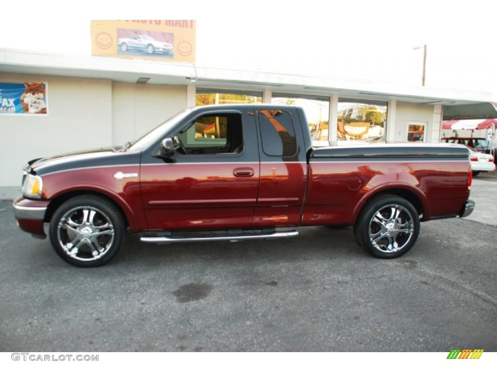 2003 Burgundy Red Metallic Ford F150 Heritage Edition Supercab