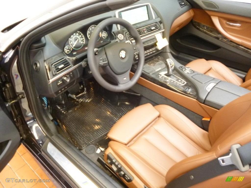 Cinnamon Brown Nappa Leather Interior 2012 Bmw 6 Series 650i Xdrive Convertible Photo 62926832