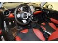 Black/Rooster Red Interior Photo for 2009 Mini Cooper #62946024