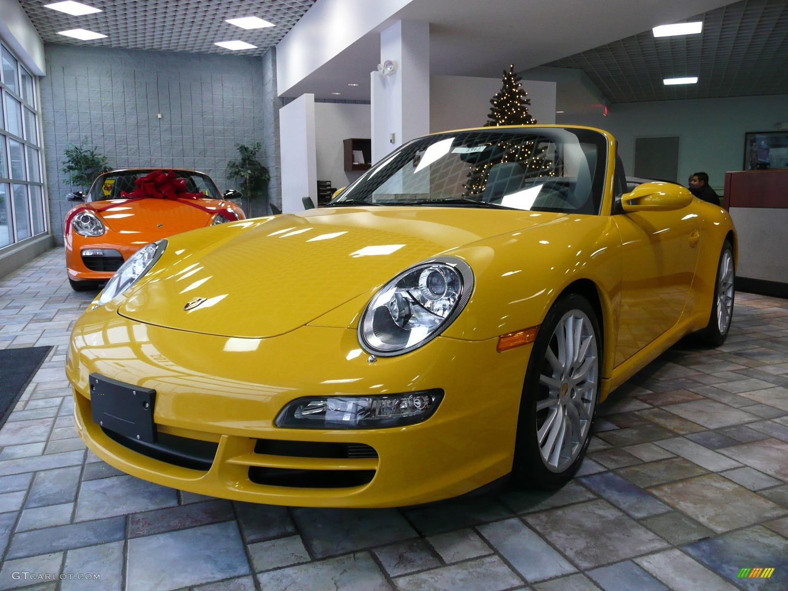 Sd Yellow Porsche 911 Carrera S Cabriolet