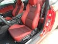 Red Leather/Red Cloth Front Seat Photo for 2013 Hyundai Genesis Coupe #62960617