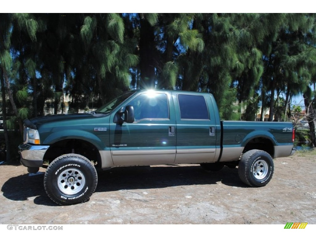 2000 Ford F250 Lariat Supercab Super Duty News >> Dark Highland Green Metallic 2002 Ford F250 Super Duty Lariat Crew Cab 4x4 Exterior Photo ...