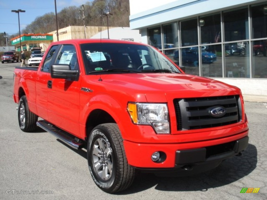 race red 2012 ford f150 stx supercab 4x4 exterior photo 62970200. Black Bedroom Furniture Sets. Home Design Ideas
