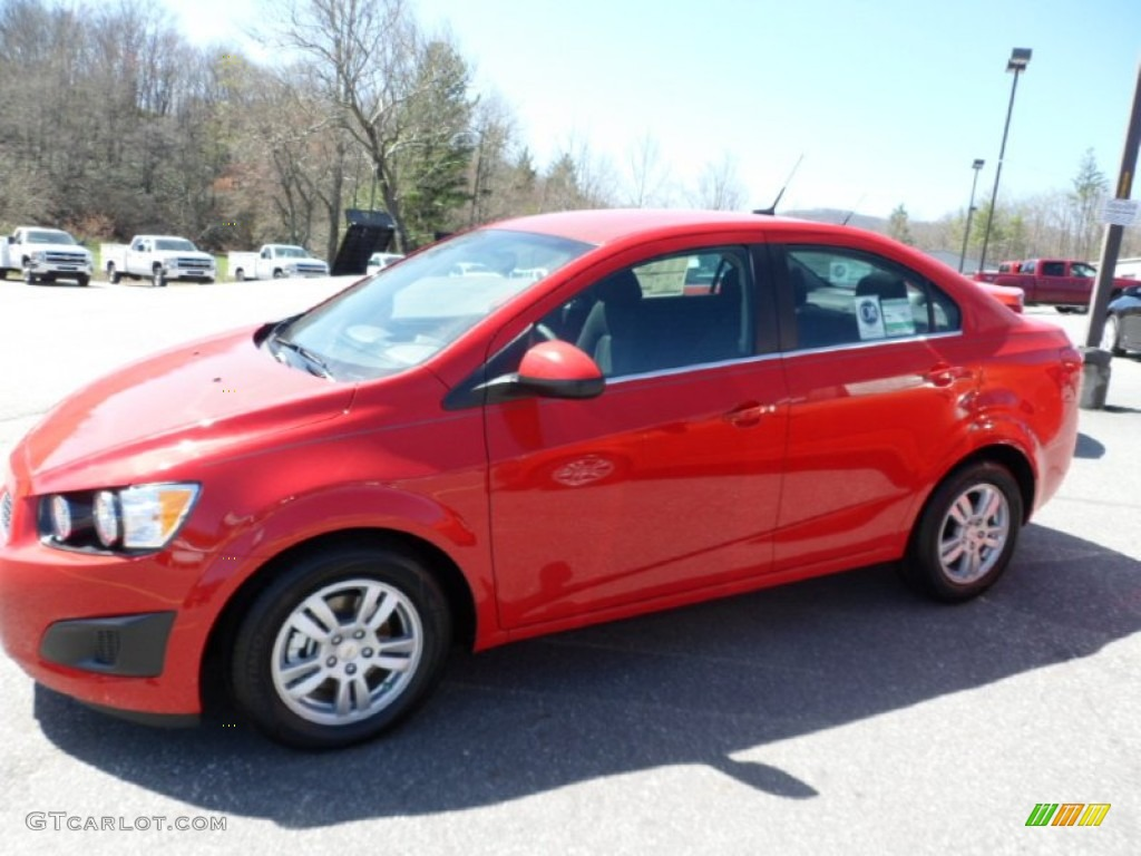 2012 Victory Red Chevrolet Sonic LT Sedan #62865314 ...