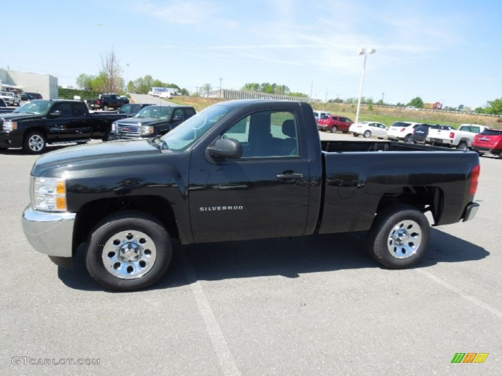 2012 Silverado 1500 Work Truck Regular Cab - Black Granite Metallic / Dark Titanium photo #4
