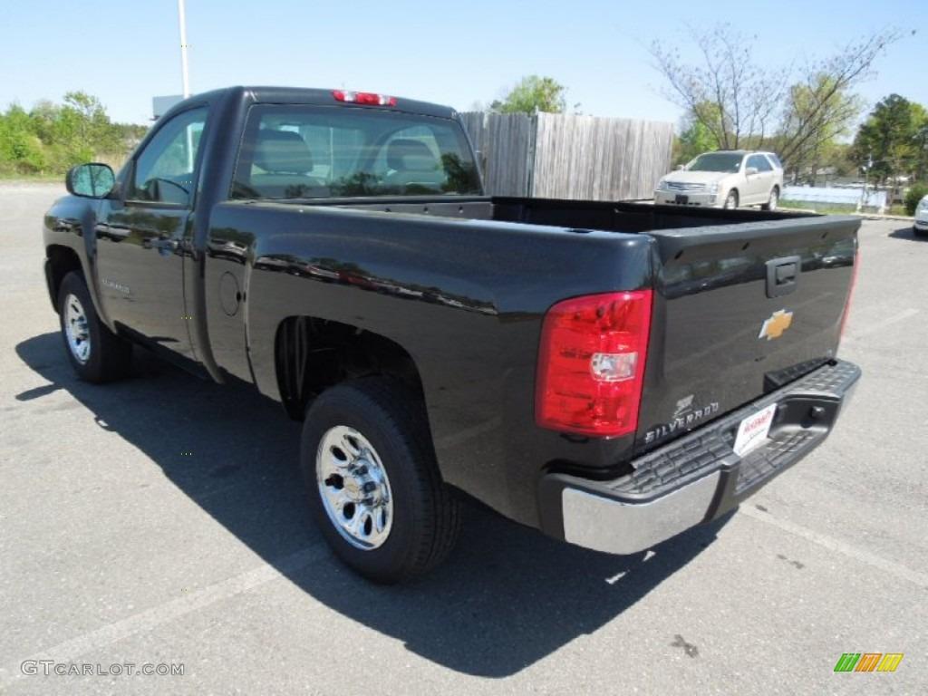 2012 Silverado 1500 Work Truck Regular Cab - Black Granite Metallic / Dark Titanium photo #5