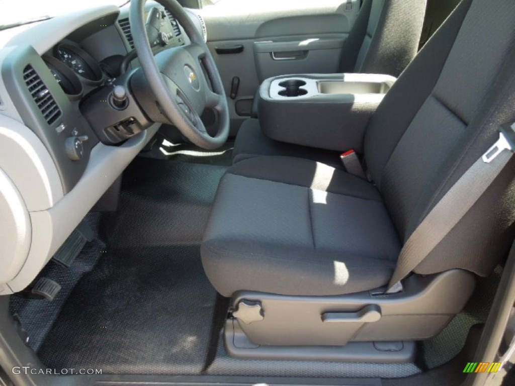 2012 Silverado 1500 Work Truck Regular Cab - Black Granite Metallic / Dark Titanium photo #8