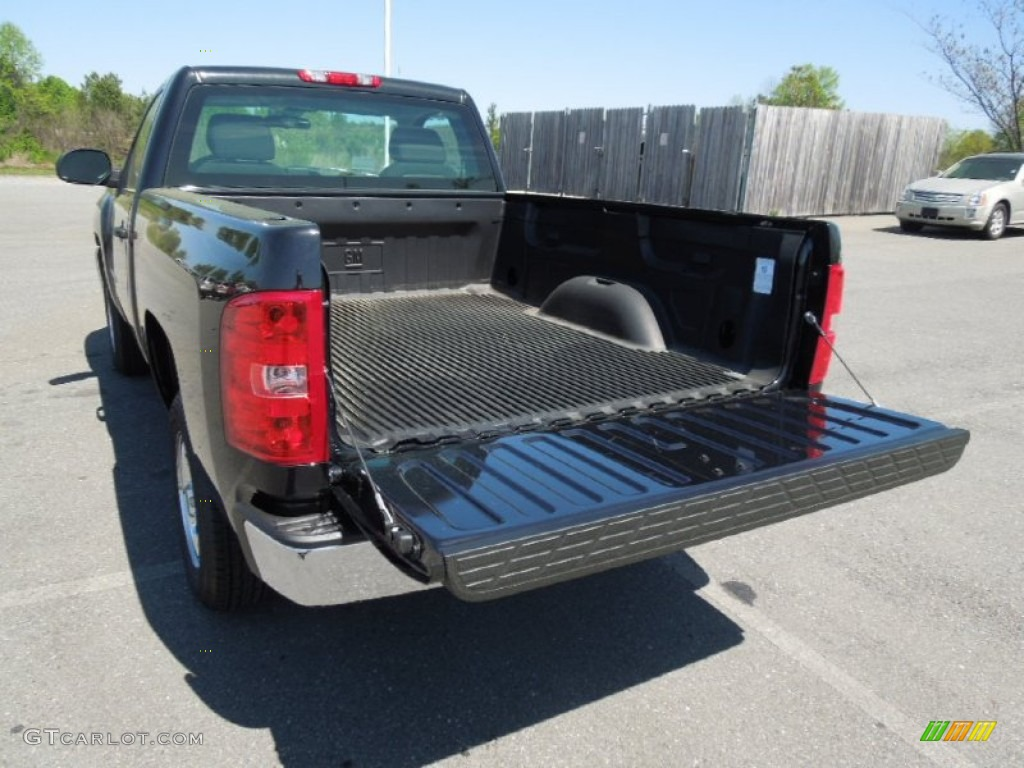 2012 Silverado 1500 Work Truck Regular Cab - Black Granite Metallic / Dark Titanium photo #15