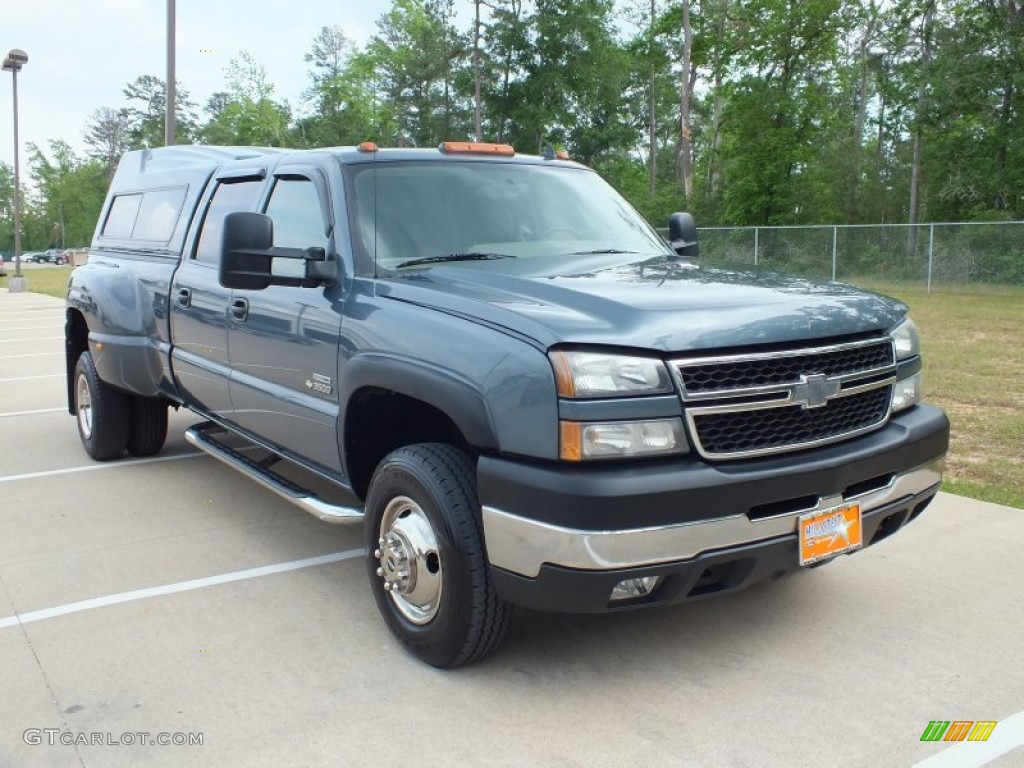 2006 blue granite metallic chevrolet silverado 3500 lt crew cab 4x4 dually 62976985 gtcarlot. Black Bedroom Furniture Sets. Home Design Ideas