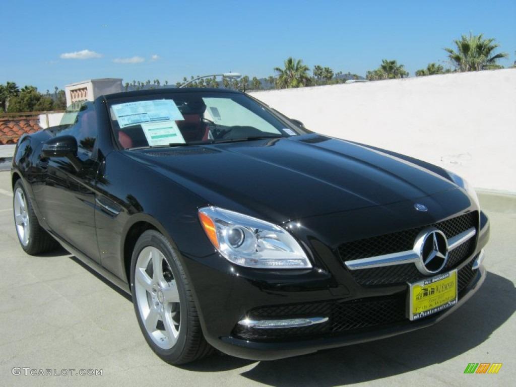 2012 black mercedes benz slk 250 roadster 62976249 car color galleries. Black Bedroom Furniture Sets. Home Design Ideas