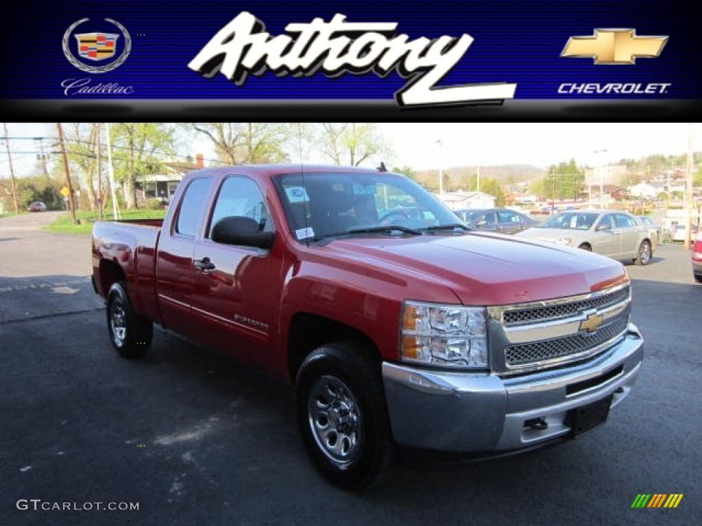2012 Silverado 1500 LS Extended Cab 4x4 - Victory Red / Dark Titanium photo #1