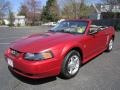 Laser Red Metallic 2002 Ford Mustang V6 Convertible Exterior