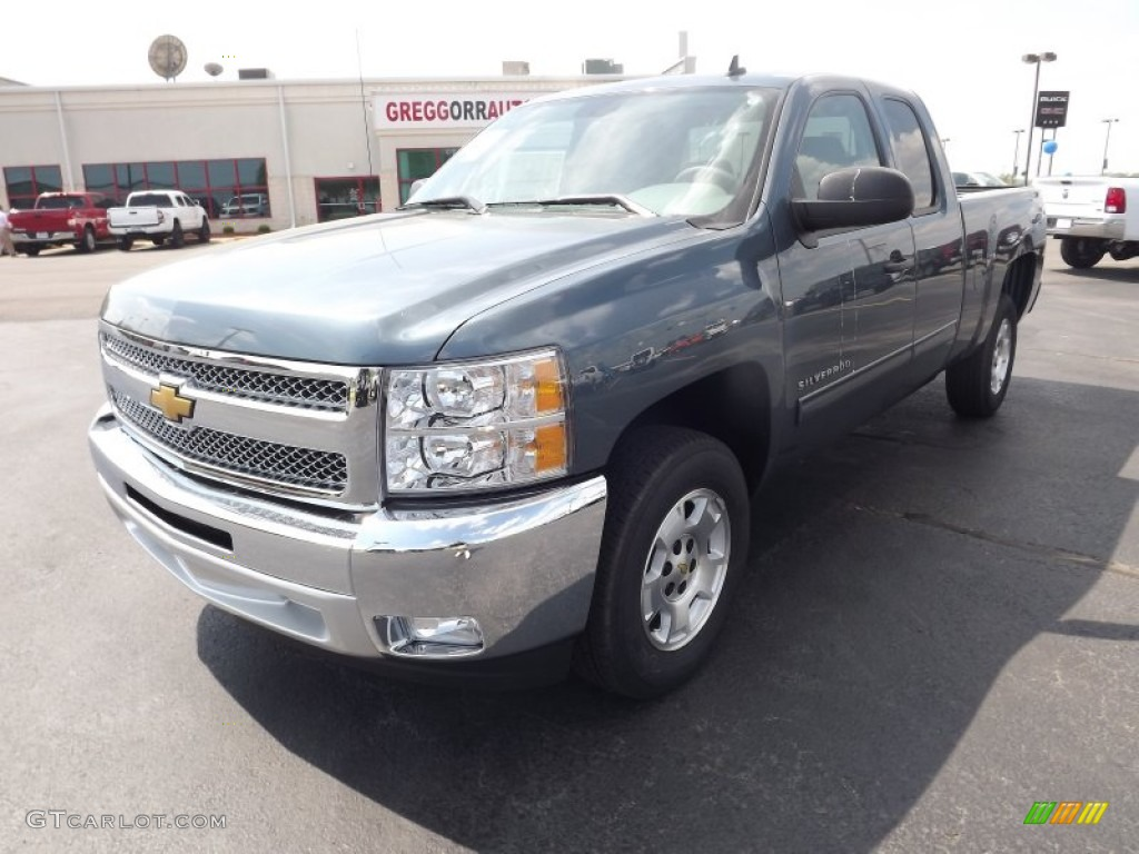 2012 Silverado 1500 LT Extended Cab - Blue Granite Metallic / Light Titanium/Dark Titanium photo #1