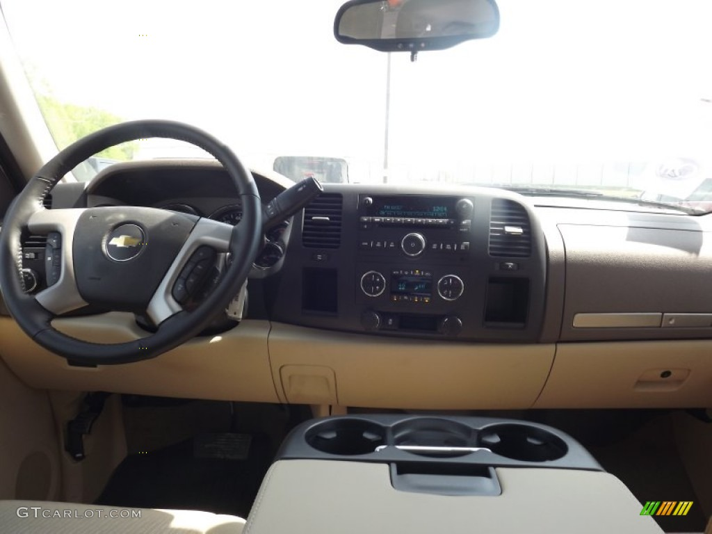 2012 Silverado 1500 LT Crew Cab - Summit White / Light Cashmere/Dark Cashmere photo #10
