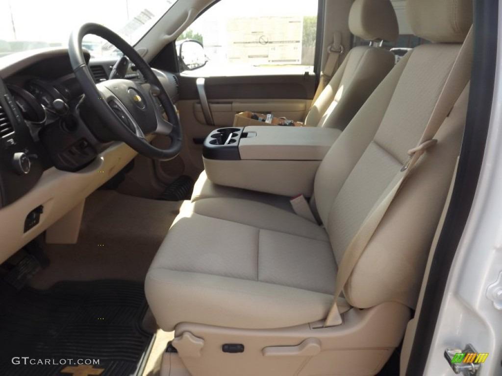 2012 Silverado 1500 LT Crew Cab - Summit White / Light Cashmere/Dark Cashmere photo #11