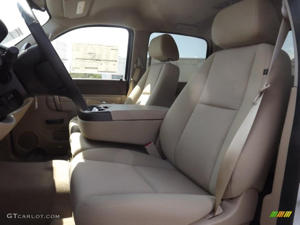 2012 Silverado 1500 LT Crew Cab - Summit White / Light Cashmere/Dark Cashmere photo #13