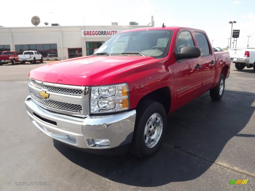 2012 Silverado 1500 LT Crew Cab - Victory Red / Light Cashmere/Dark Cashmere photo #1