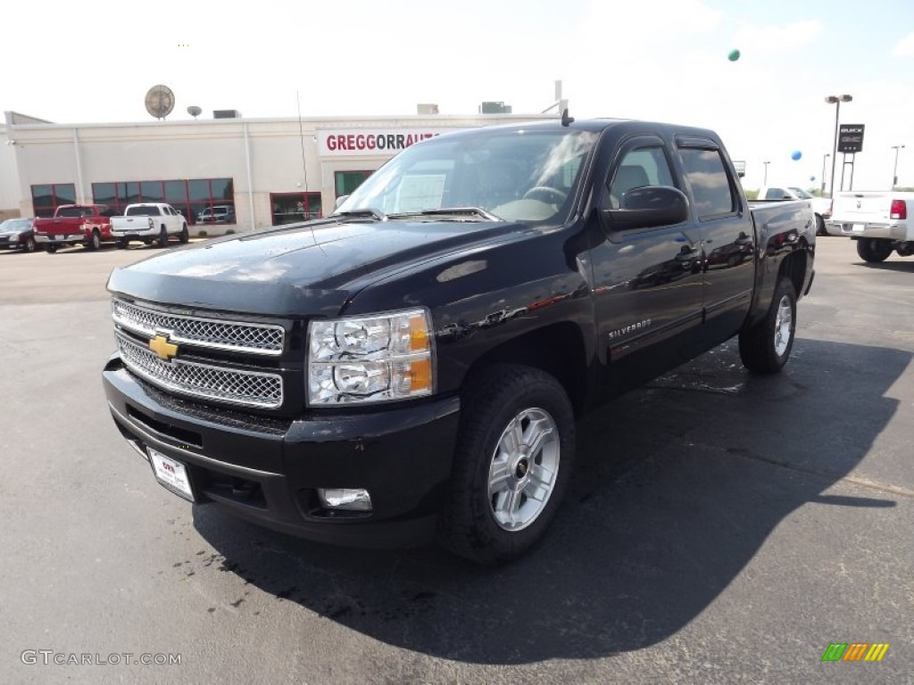 2012 Silverado 1500 LTZ Crew Cab 4x4 - Black / Light Cashmere/Dark Cashmere photo #1