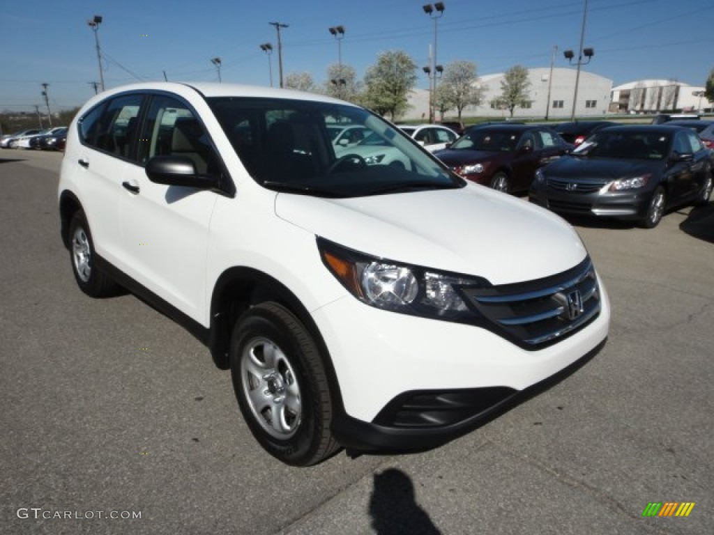 2012 CR-V LX 4WD - Taffeta White / Gray photo #7