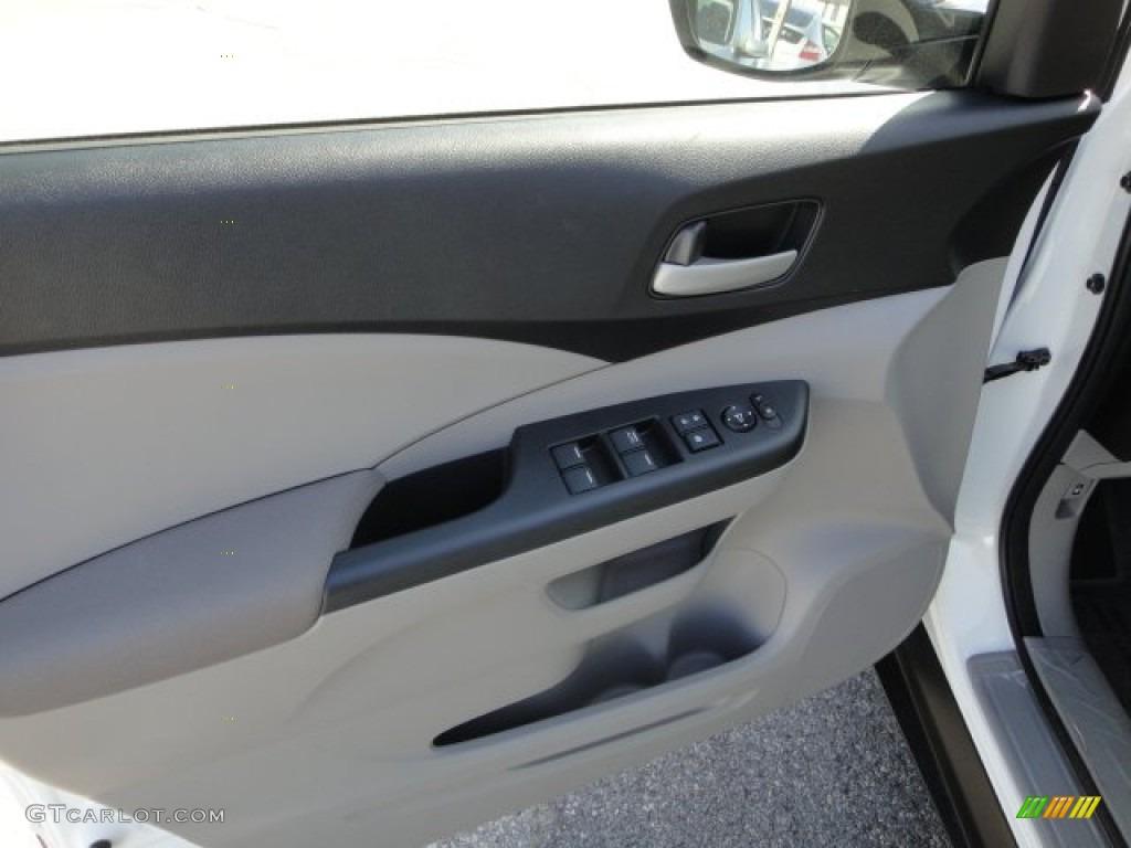2012 CR-V LX 4WD - Taffeta White / Gray photo #14