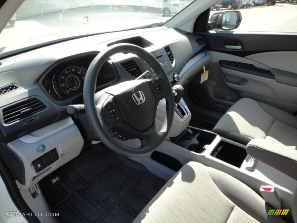 2012 CR-V LX 4WD - Taffeta White / Gray photo #15