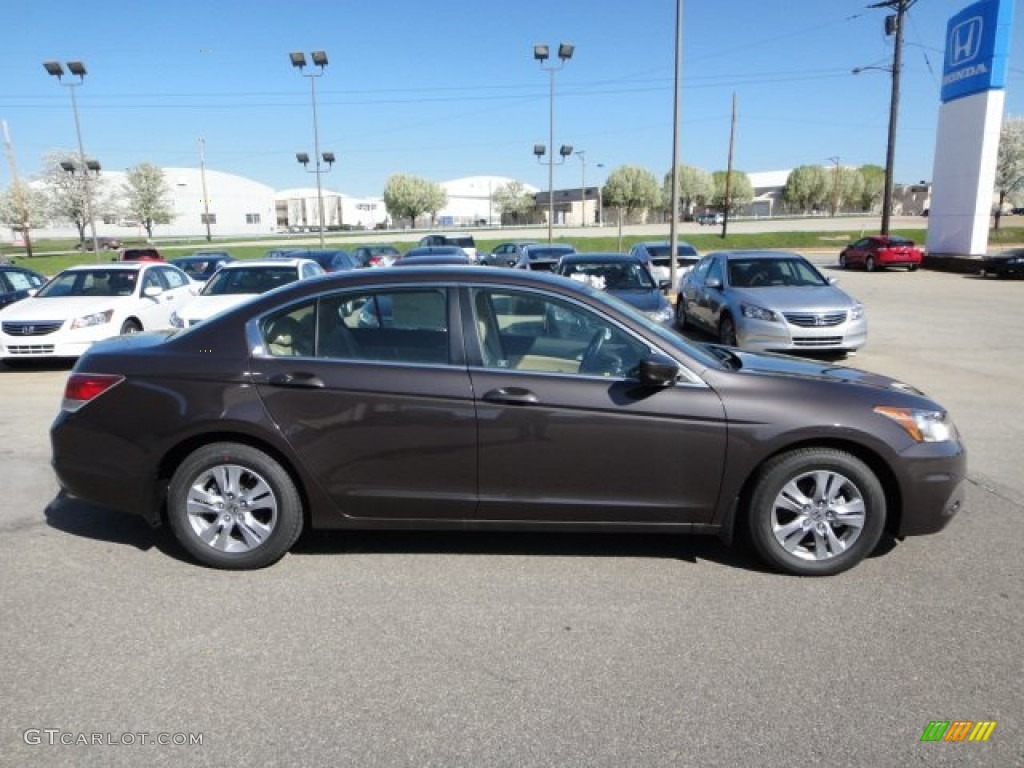 2012 Dark Amber Metallic Honda Accord Lx Premium Sedan