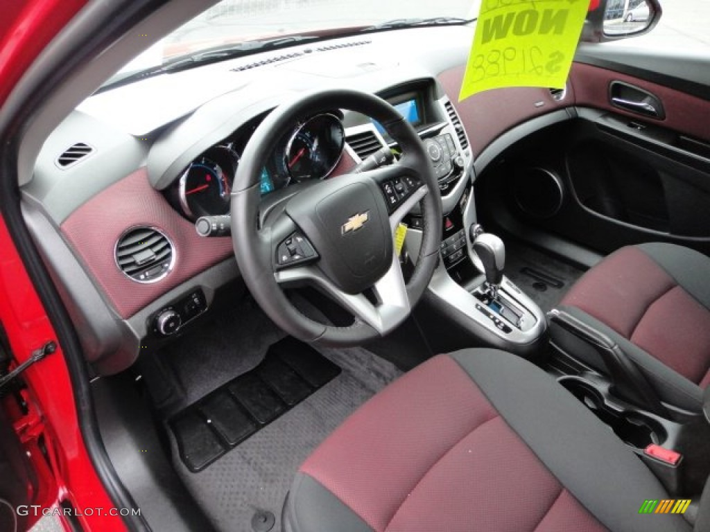 Jet Black Sport Red Interior 2016 Chevrolet Cruze Lt Rs Photo
