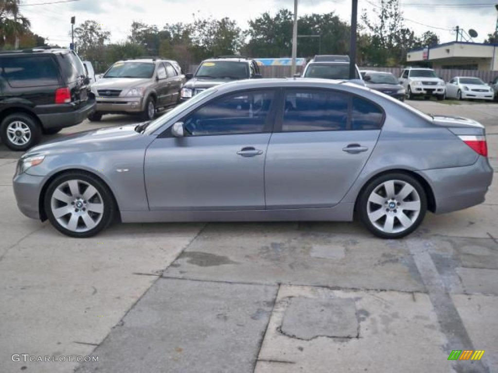Silver Grey Metallic 2007 BMW 5 Series 530i Sedan Exterior Photo ...