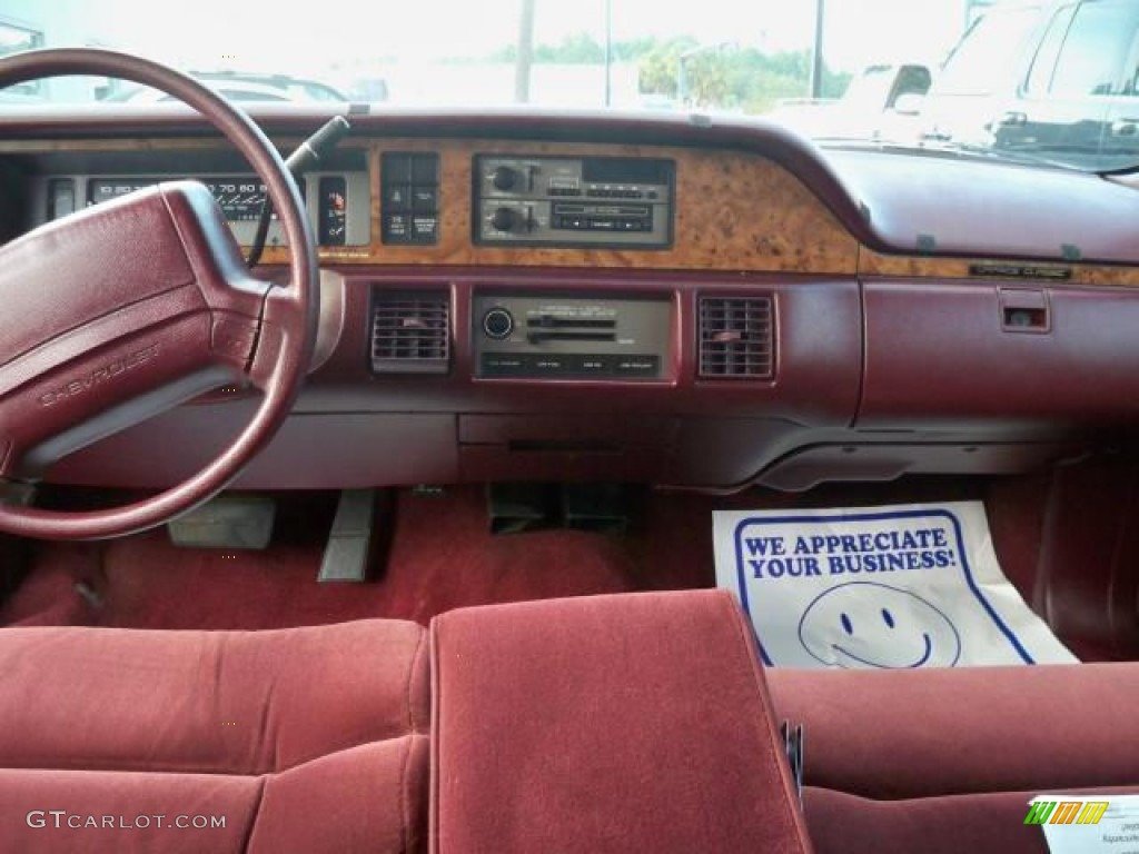 1993 Caprice LS Sedan - White / Red photo #7