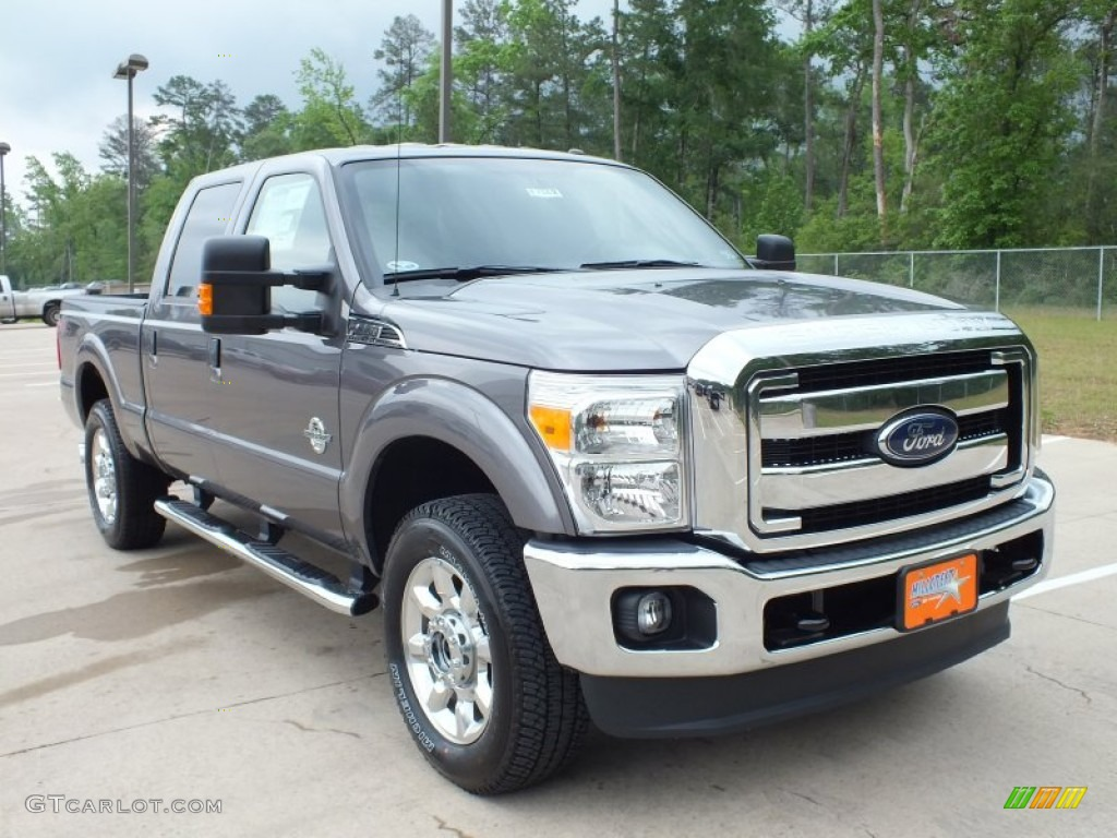2012 sterling grey metallic ford f250 super duty lariat crew cab 4x4 63038813 photo 15. Black Bedroom Furniture Sets. Home Design Ideas