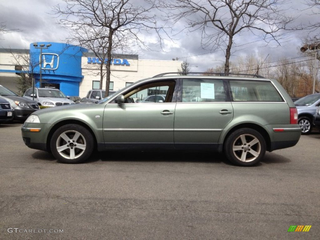2004 fresco green metallic volkswagen passat glx 4motion wagon 63038736 car. Black Bedroom Furniture Sets. Home Design Ideas