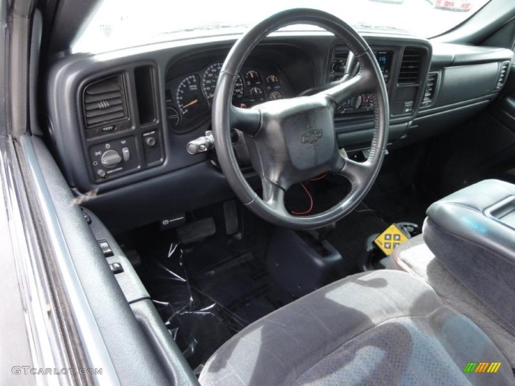 2002 Silverado 1500 LS Extended Cab 4x4 - Onyx Black / Graphite Gray photo #14